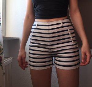 Zara Shorts blanco-azul