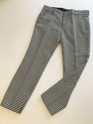 Zara Pantalone a pieghe bianco-nero