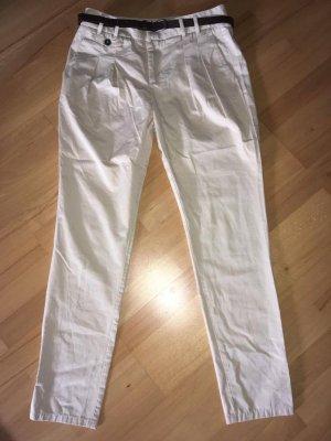 Zara Pantalone a pieghe beige chiaro