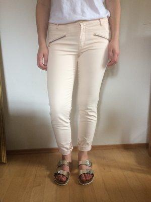 Zara Pantalon cigarette rosé