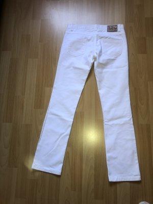 Jeans cigarette blanc
