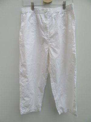 Vintage 7/8 Length Trousers white