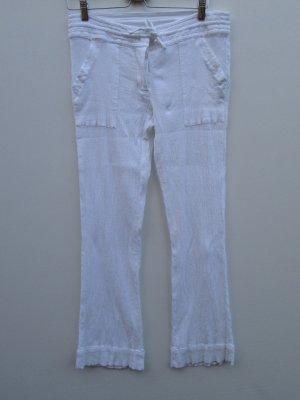 Vintage Pantalón tobillero blanco