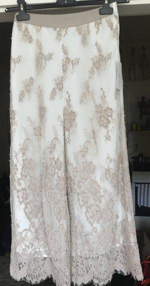 Patricia Pepe Pantalon 7/8 blanc-beige tissu mixte