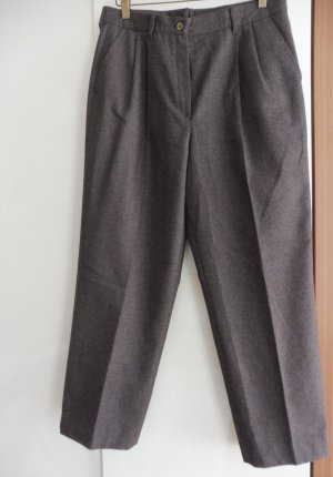 Pantalon en laine gris brun laine
