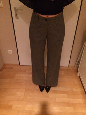 Turnover Woolen Trousers multicolored