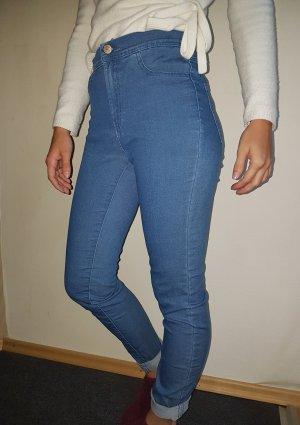 Zara High Waist Trousers blue