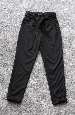 Zara Trafaluc Pantalón de cintura alta negro