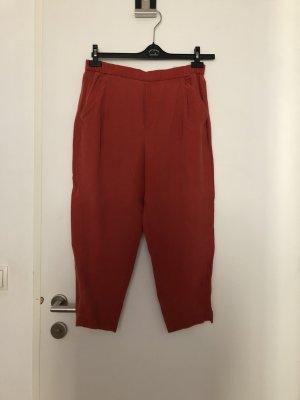 Zara Pantalon à pinces orange foncé-orange