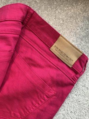 Zara Basic Pantalon cinq poches magenta