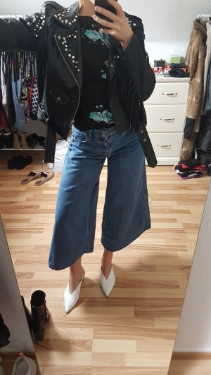 Zara Denim Flares steel blue