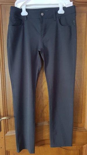 Armani Jeans Pantalón de cintura alta gris oscuro