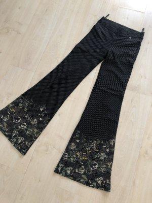 Pantalón de campana caqui-negro