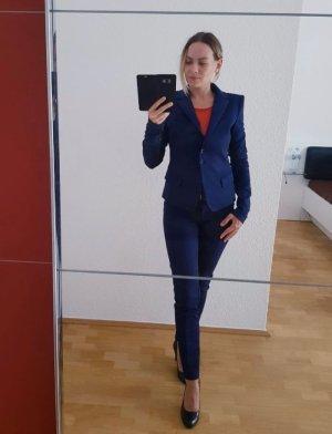 Patrizia Pepe Trouser Suit dark blue mixture fibre