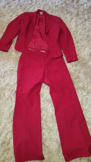 Jürgen Michaelsen Tailleur pantalone rosso