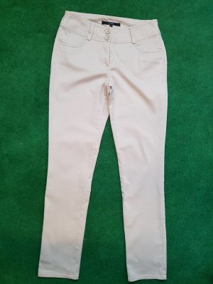 Hallhuber Trousers sand brown cotton