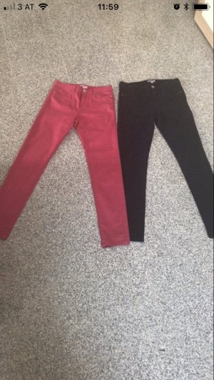 Pantalon taille basse magenta-bleu foncé