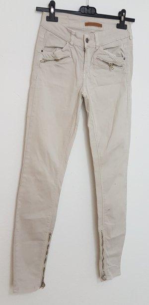 Gina Tricot Pantalon taille haute crème-beige clair