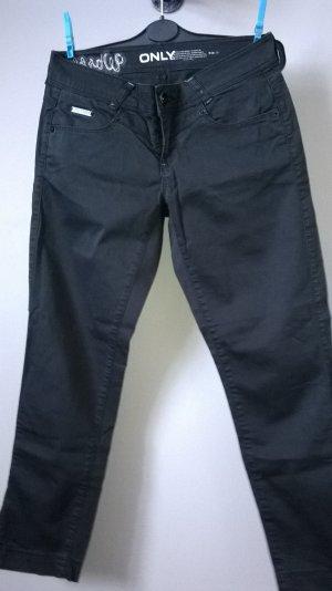Only Pantalón de tubo negro Algodón