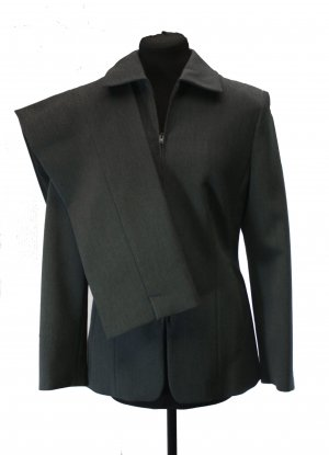 Tailleur-pantalon gris anthracite viscose