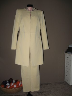 Alba Moda Trouser Suit dark yellow cotton