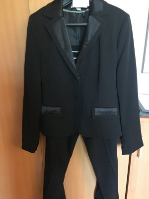 Basic Line Trouser Suit black