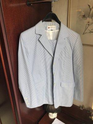 Fabiani Tailleur pantalone bianco-azzurro