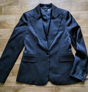 Hosenanzug Blazer 40, Hose 38 Grösse * schwarz glänzend * Koton