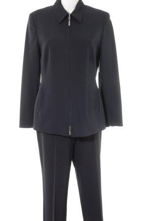 Tailleur-pantalon bleu foncé style d'affaires