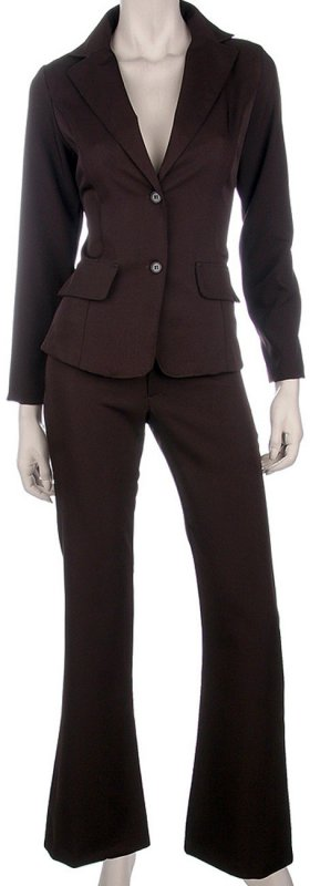 Costume business brun foncé polyester