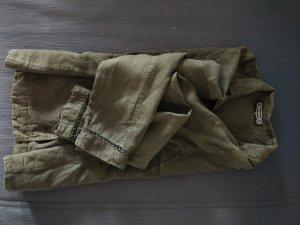 Hosenanzug, dunkelgrau aus reinem Leinen