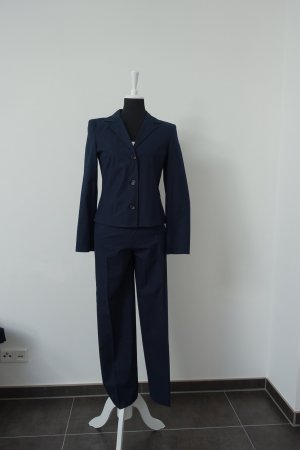 Gabriele Strehle Jeans Trouser Suit dark blue cotton