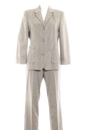 Tailleur-pantalon gris vert motif à carreaux style d'affaires