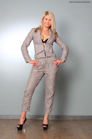 H&M Traje de pantalón color plata-gris