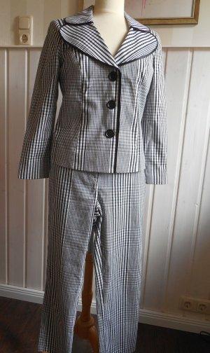 Heine Trouser Suit black-white mixture fibre