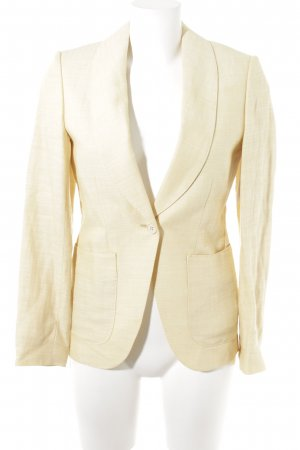 Traje de pantalón amarillo claro moteado estilo «business»