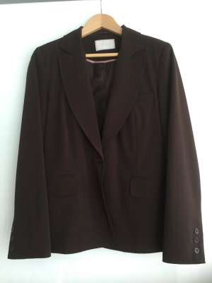 Trouser Suit brown polyester