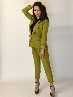 Trouser Suit lime yellow