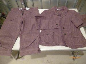 Trouser Suit brown cotton