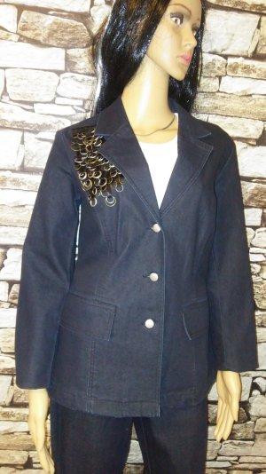 Laura Kent Tailleur pantalone blu scuro Tessuto misto