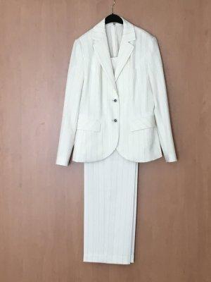 Chicc Trouser Suit natural white mixture fibre