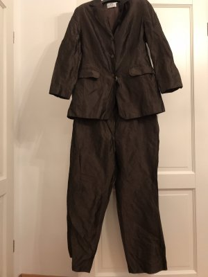 Alba Moda Trouser Suit dark brown
