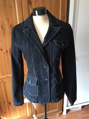 Hosenanzug Nadelstreifen 38 M Jeans dunkelblau von Zero