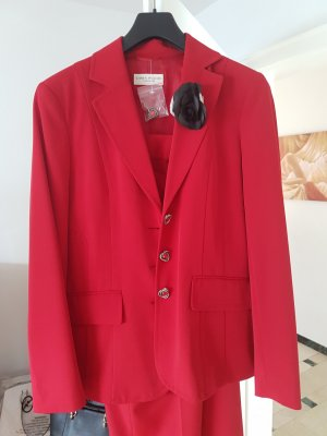 Trouser Suit red-dark red