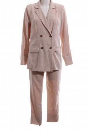 Trouser Suit nude-natural white check pattern elegant