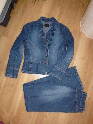 Hosenanzug OUI Gr. 36 38 S M blau Jeans Hose Jacke Jeansjacke Top-Zustand