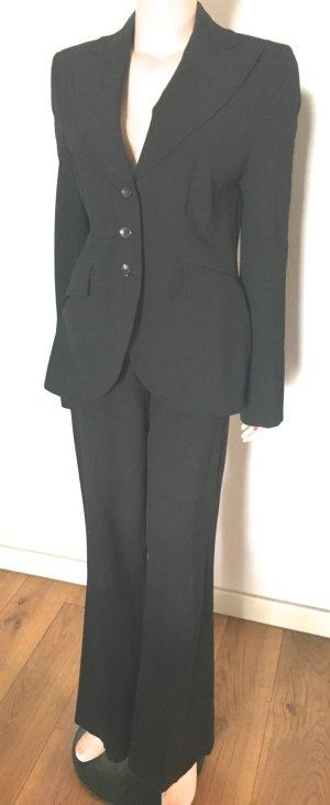 Emozioni Traje de pantalón negro tejido mezclado