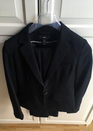 HM Traje de pantalón negro tejido mezclado