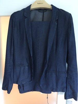 someday Trouser Suit dark blue lyocell
