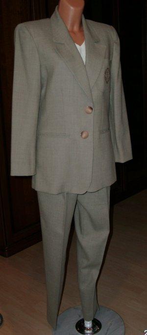 Tailleur pantalone marrone-grigio Lana